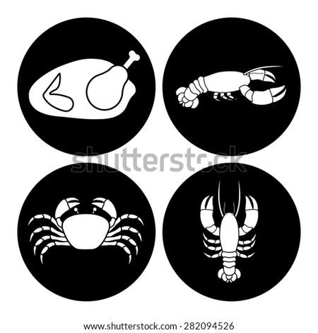 Menu design over white background, vector illustration - stock vector