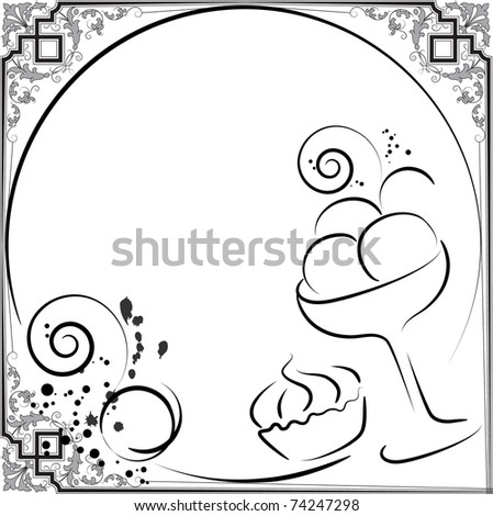 menu dessert - stock vector