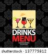 Menu drinks - stock vector