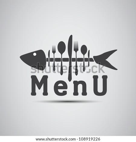 Menu - Fish - stock vector