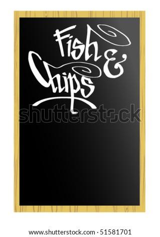 Menu - Fish & Chips - stock vector
