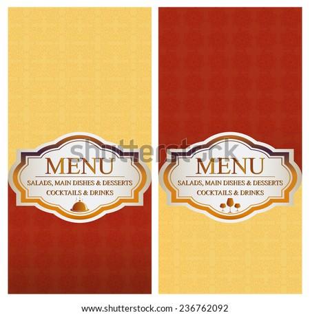 Menu - Food & Drinks - retro design - stock vector