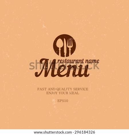 Menu for restaurant and cafe. Creative shabby menu. Vintage menu for design of corporate style restaurant or cafe. - stock vector
