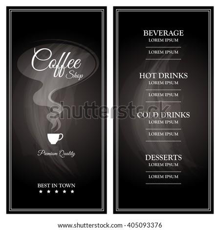 Menu for restaurant, cafe, bar, coffeehouse / Template Coffee shop menu.  - stock vector