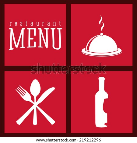 menu graphic design , vector illustration