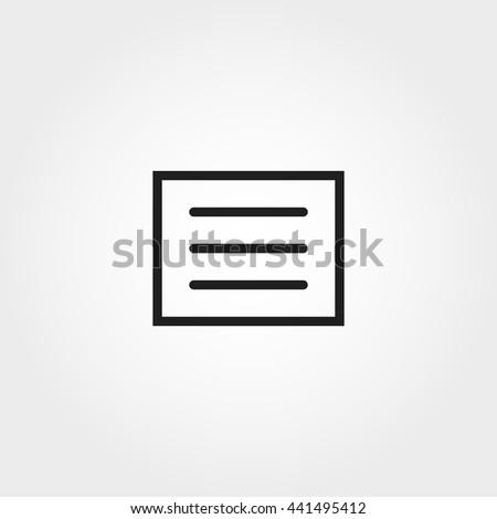 menu icon - stock vector