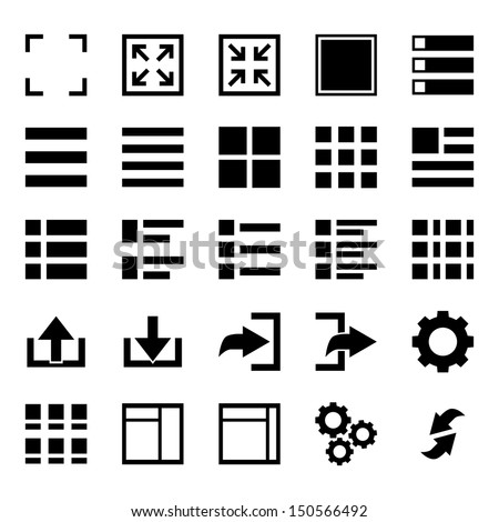 Menu Icon set - stock vector