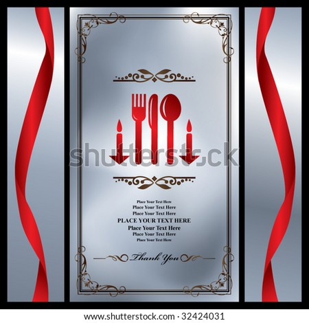 menu,invitation sets 8 - stock vector