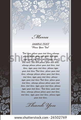 menu,invitation templates set--1 - stock vector