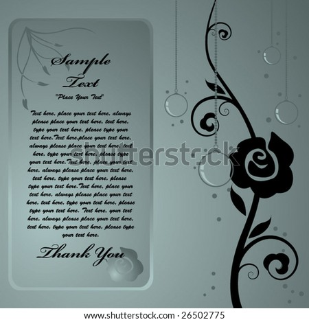 menu,invitation templates set--3 - stock vector