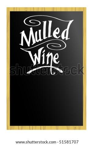 Menu - Mulled Wine - stock vector
