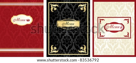 menu on the floral background - stock vector