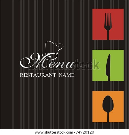 Menu restaurant - stock vector