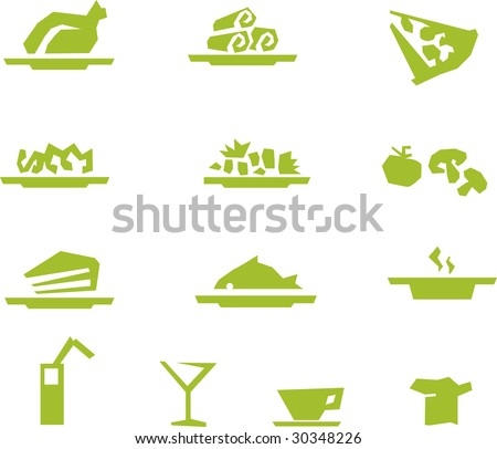 menu set - stock vector