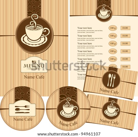Menu style cafeteria - stock vector