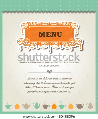 Menu Template - stock vector