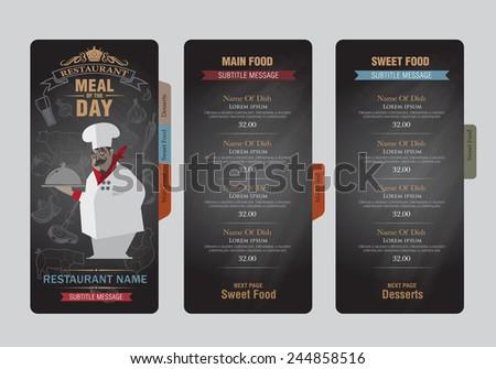 menu template. creative design - stock vector
