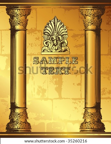 Roman pillar stock photos images pictures shutterstock for Roman menu template