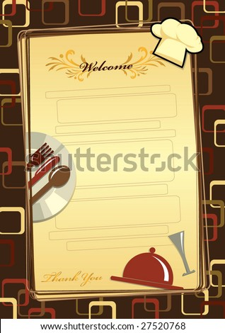 menu, templates set 5 - stock vector