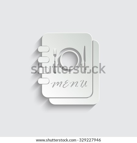 Menu -  vector icon - stock vector