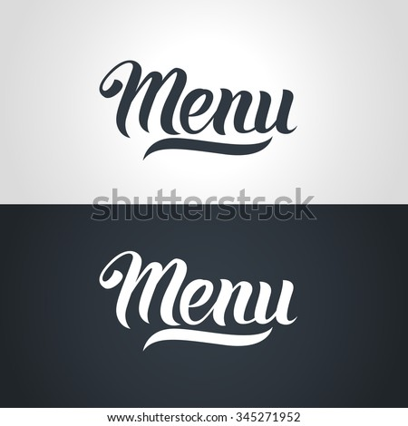 Menu word hand lettering. Handmade vector calligraphy collection - stock vector