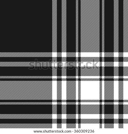 Menzies tartan black kilt fabric texture seamless pattern.Vector illustration. EPS 10. No transparency. No gradients. - stock vector