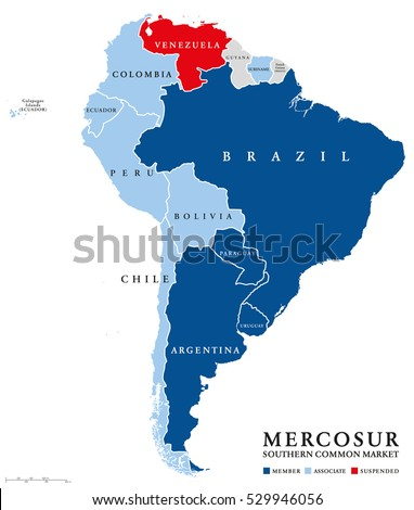 Latin America Political Map Capitals National Stock Vector - Latin america labeled map