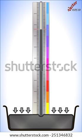 Mercury Barometer - stock vector