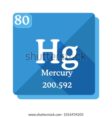 Mercury hg chemical element periodic table stock vector 1016934205 mercury hg chemical element of periodic table mercury icon in flat style with urtaz Images