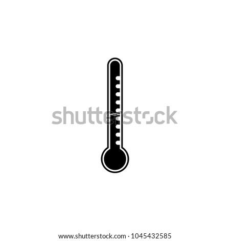Mercury Thermometer Icon Element Weather Elements Stock Vector