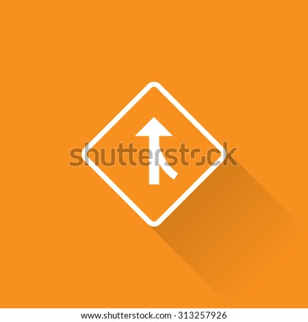 Merging Traffic From Right Sign - stock vector