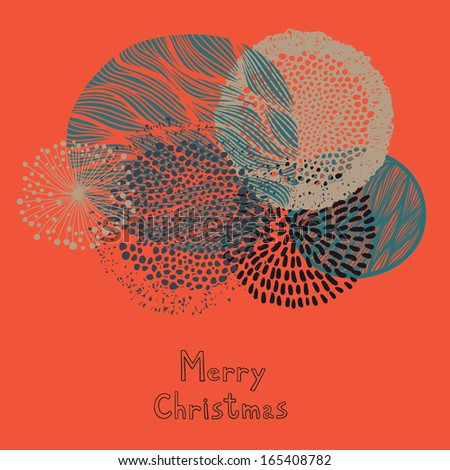 Merry Christmas abstract background - stock vector