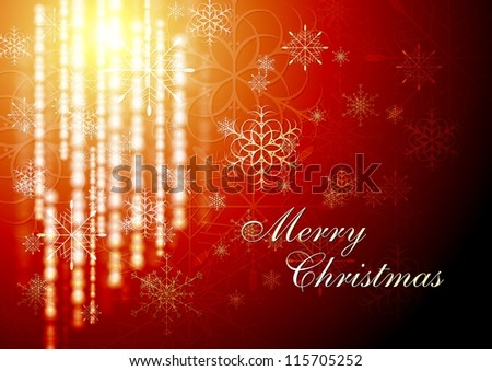 Merry Christmas! Abstract shiny background with snowflakes. Eps 10 vector design - stock vector