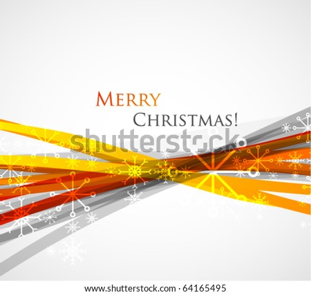 Merry Christmas. Abstract vector background