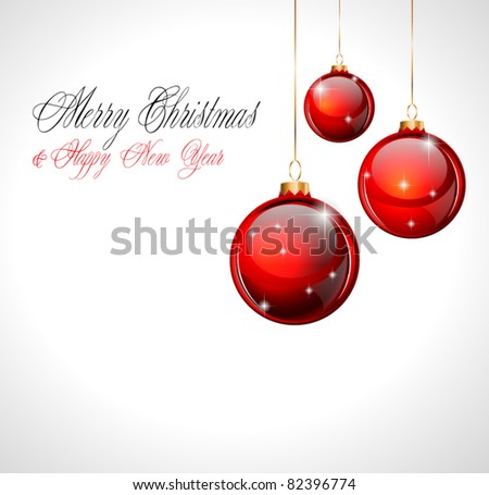 Merry Christmas and Happy New Year Background with soft white to add custom text and object easy. - stock vector