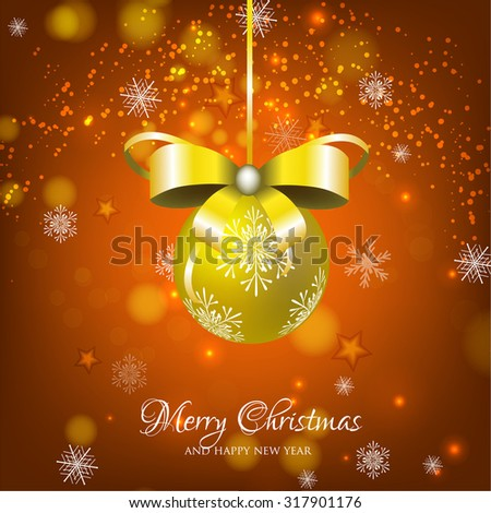 Merry Christmas and Happy New Year Card. - stock vector