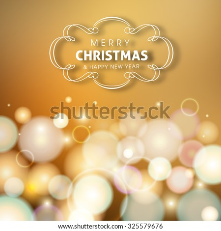 Merry Christmas and Happy New year celebration design.