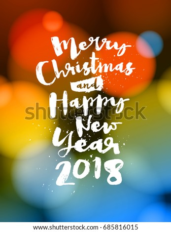 Merry christmas happy new year 2018 stock vector hd royalty free merry christmas and happy new year 2018 greeting card vector eps 10 no mesh m4hsunfo