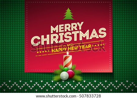 Merry christmas happy new year message stock vector 507833728 merry christmas and happy new year message on vector knitted pattern elements are layered separately m4hsunfo