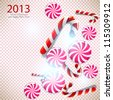 Merry Christmas and Happy new year 2013. Vector background - stock vector