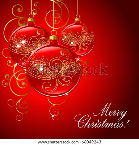 Merry Christmas background. - stock vector