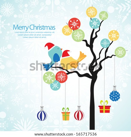 Merry Christmas background/card - stock vector