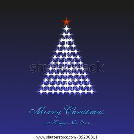 Merry Christmas background for your design. Vector illustration - stock vector