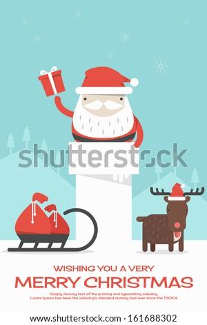 Merry Christmas background, vector - stock vector