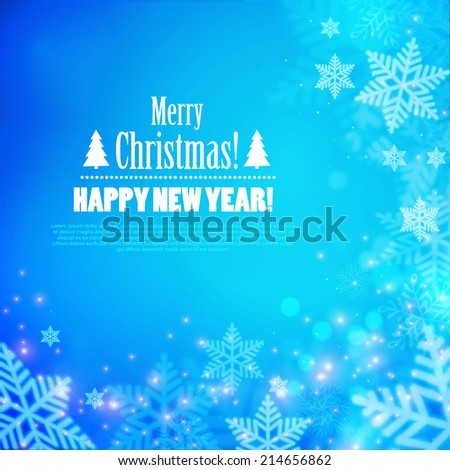 Merry Christmas background. Vector illustration - stock vector