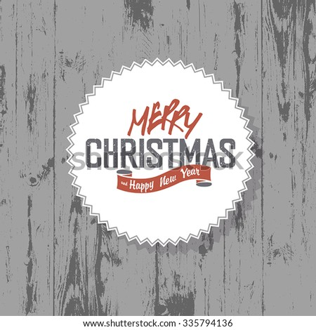 Merry Christmas background with colorful rays - stock vector