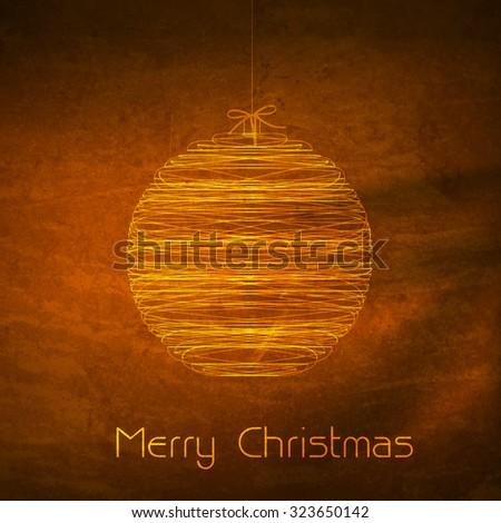 Merry Christmas ball typography illustration easy editable - stock vector