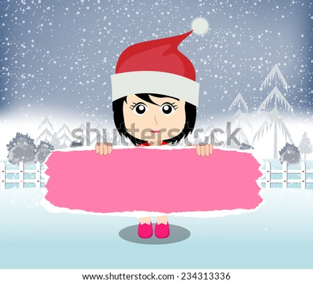 Merry christmas banner - stock vector