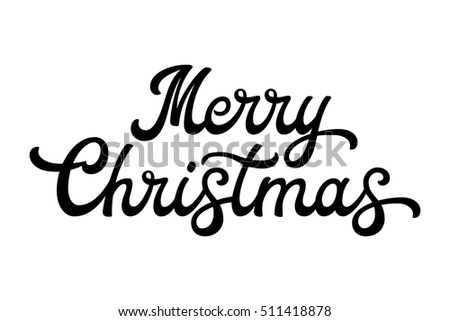 merry christmas bubble letters merry brush lettering black letters stock vector 49918