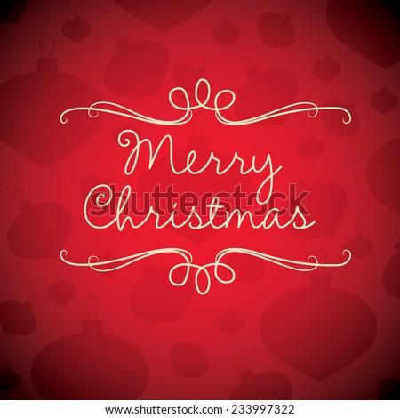 Merry Christmas card in vector format. - stock vector